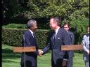 US George H.W. Bush Meets with Nelson Mandela 2
